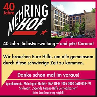 Spendenkampagne Mehringhof